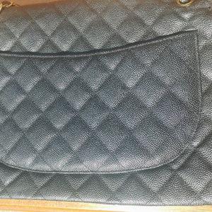 CHANEL 2.55 caviar Maxi flap leather classic bag